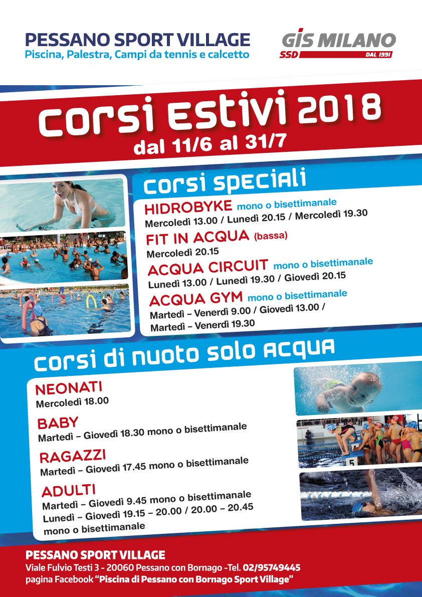Pessano sport village for Piscina pioltello